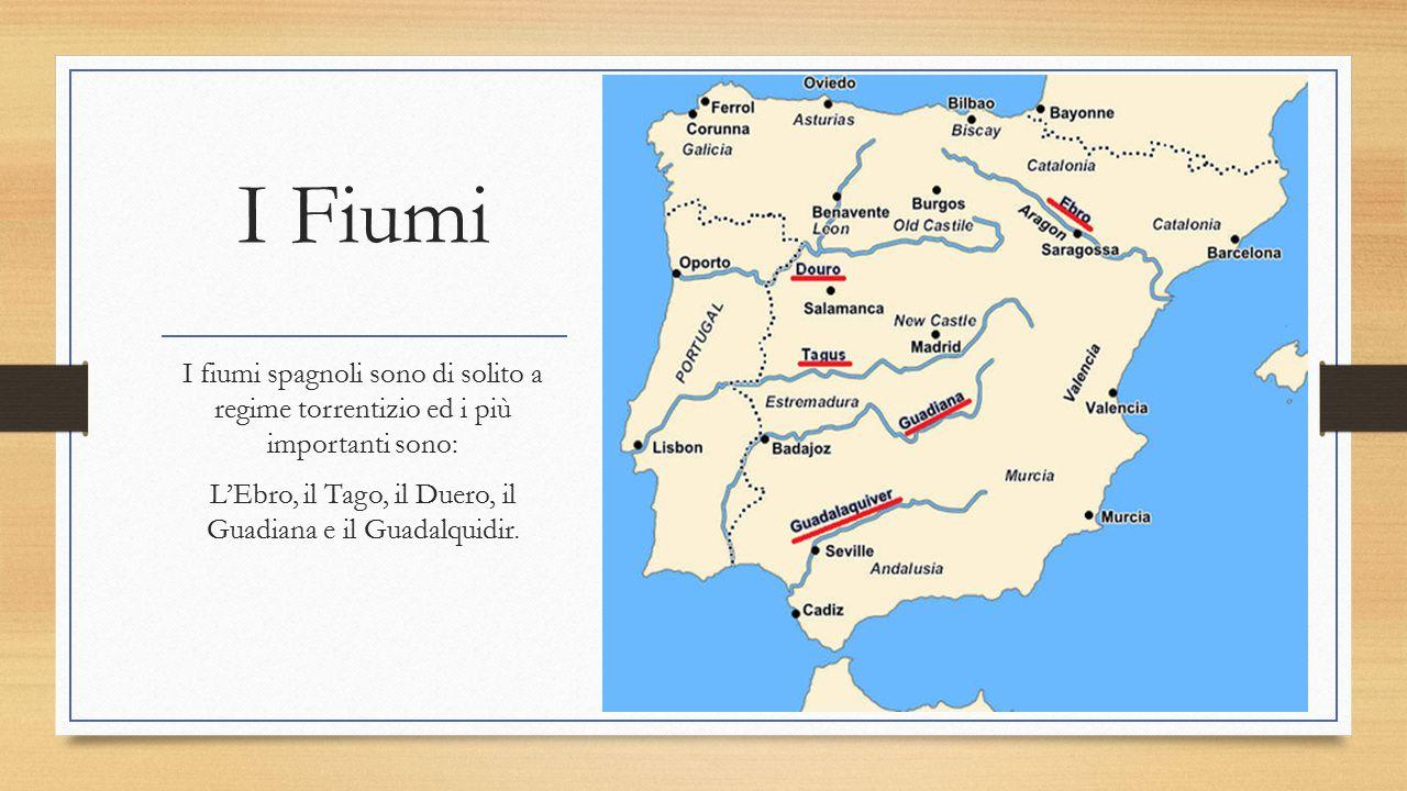 L'Ebro, il Tago, il Duero, il Guadiana e il Guadalquidir.