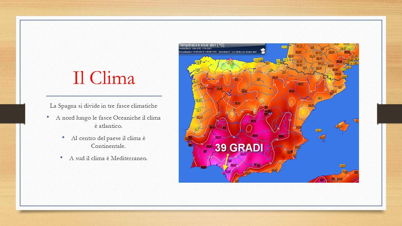 Il Clima La Spagna si divide in tre fasce climatiche