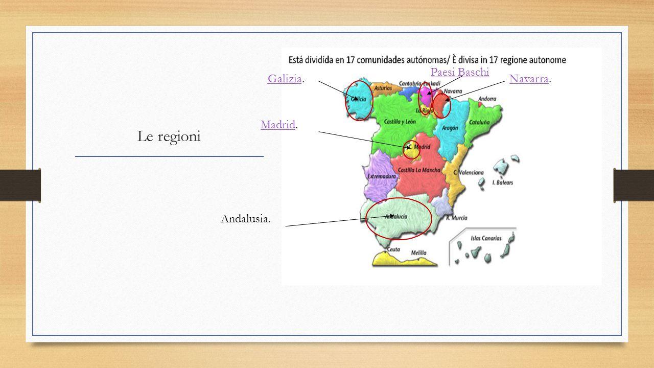 Paesi Baschi Galizia. Navarra. Le regioni Madrid. Andalusia.