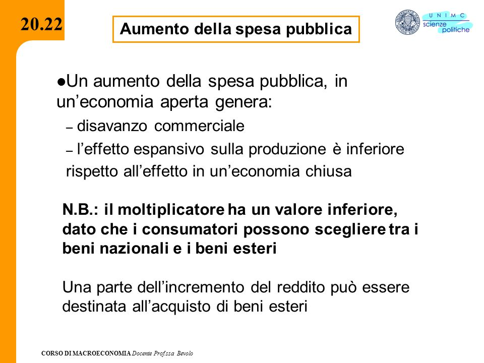Aumento della spesa pubblica