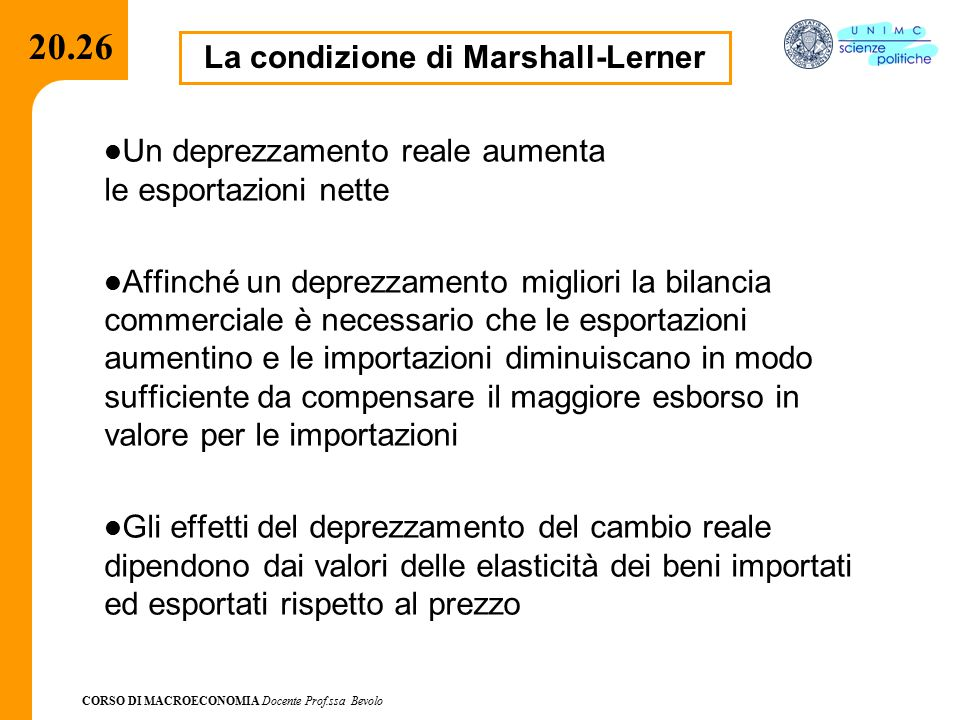 La condizione di Marshall-Lerner