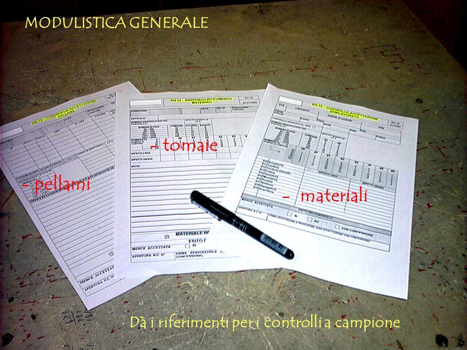 - tomaie - pellami - materiali MODULISTICA GENERALE