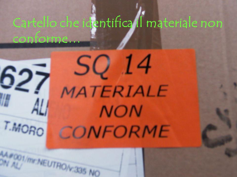 Cartello che identifica il materiale non conforme…
