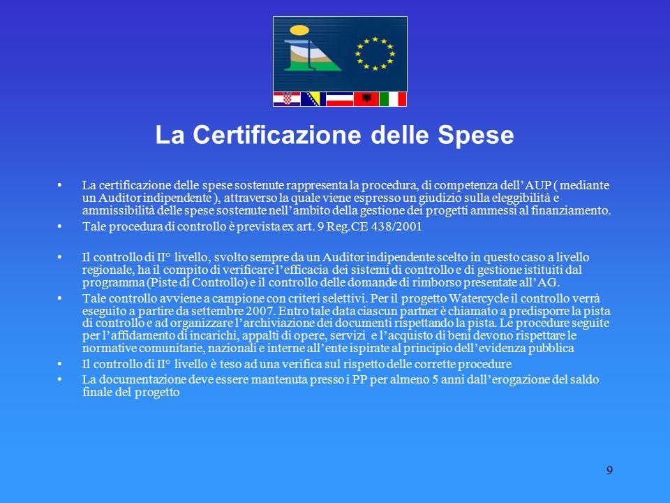 La Certificazione delle Spese