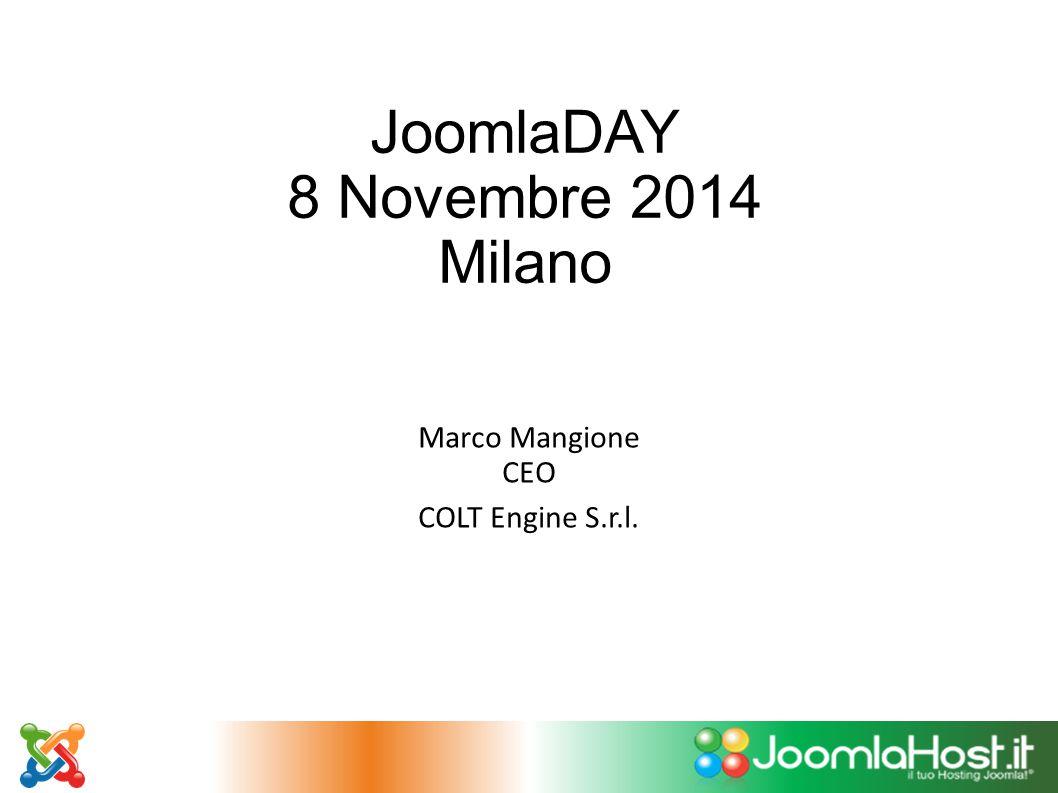 JoomlaDAY 8 Novembre 2014 Milano