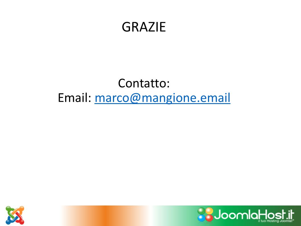 GRAZIE Contatto: Email: marco@mangione.email