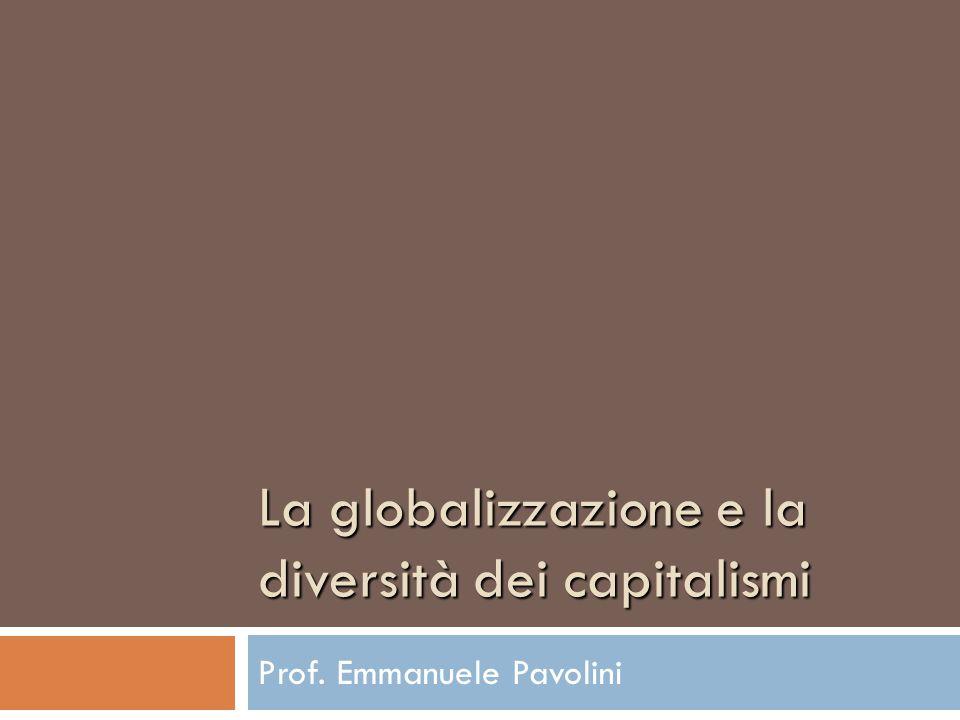La globalizzazione e la diversità dei capitalismi