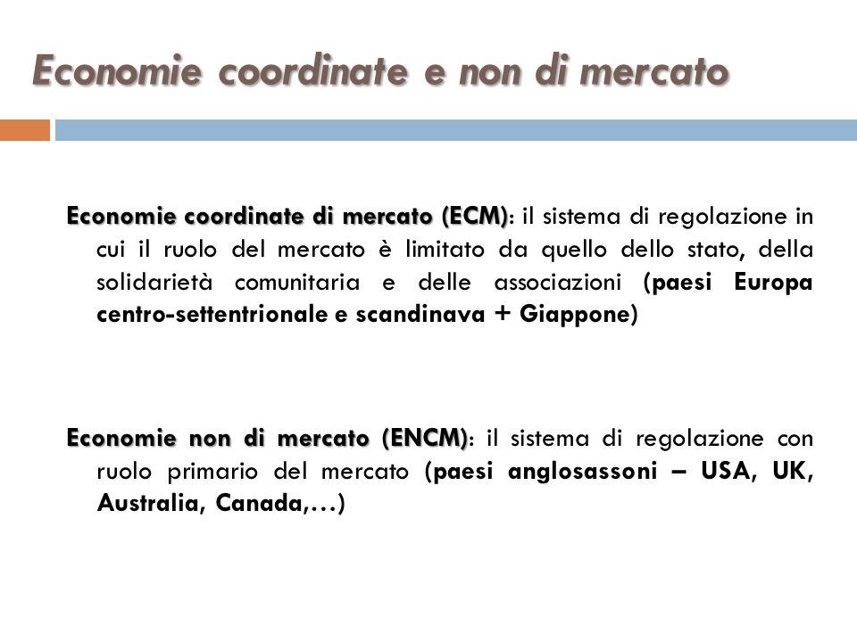 Economie coordinate e non di mercato