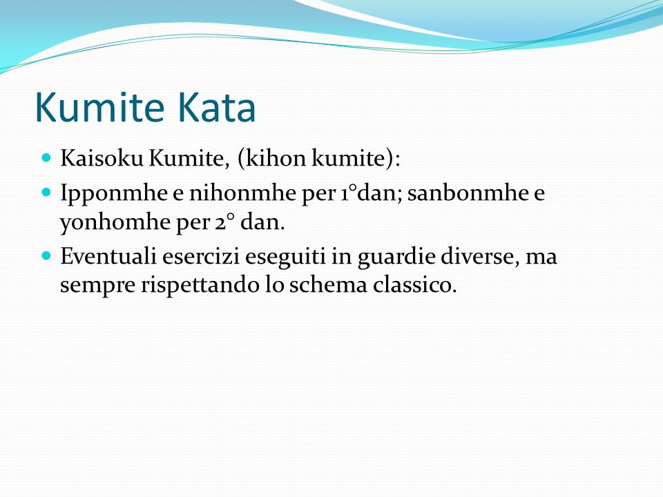 Kumite Kata Kaisoku Kumite, (kihon kumite):