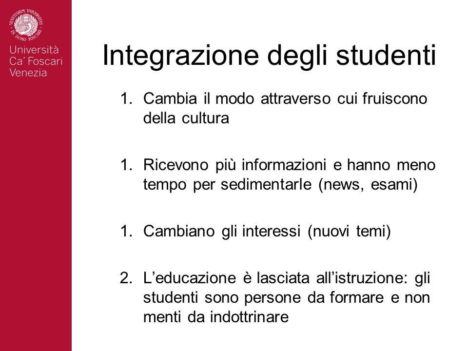 Integrazione degli studenti