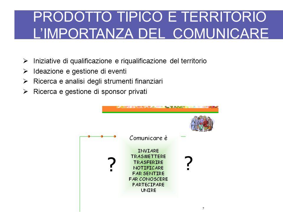 PRODOTTO TIPICO E TERRITORIO L'IMPORTANZA DEL COMUNICARE