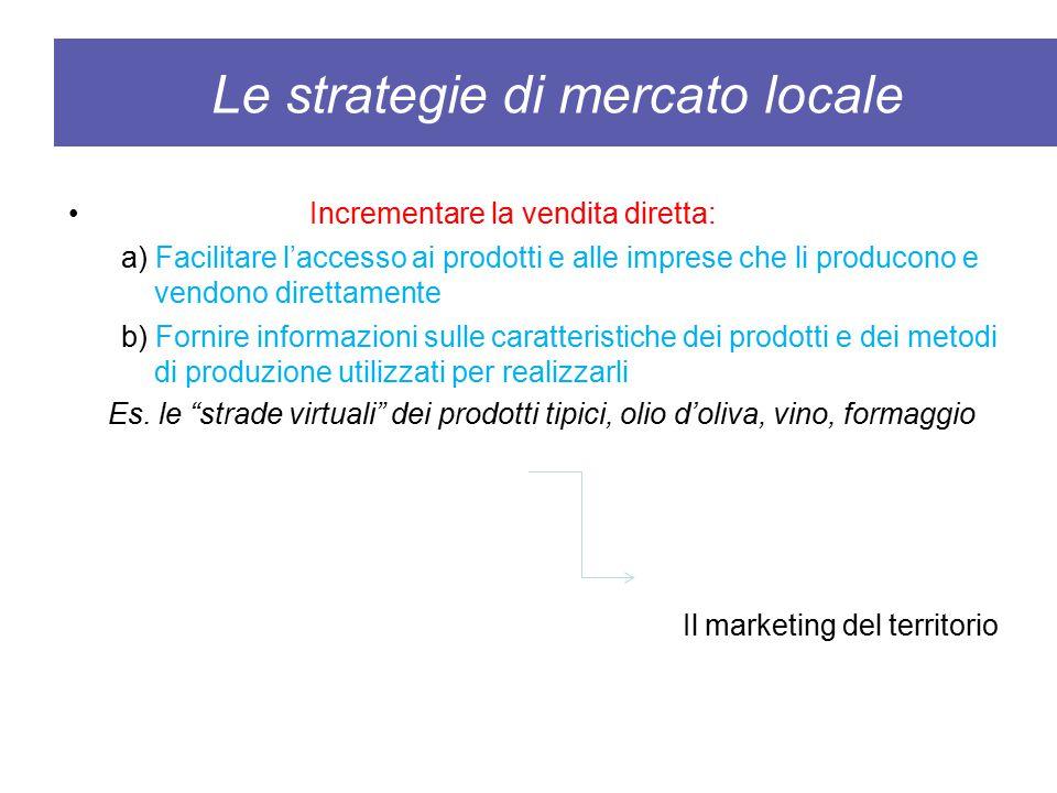 Le strategie di mercato locale