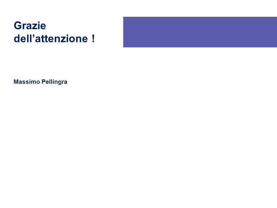 Grazie dell'attenzione ! Massimo Pellingra