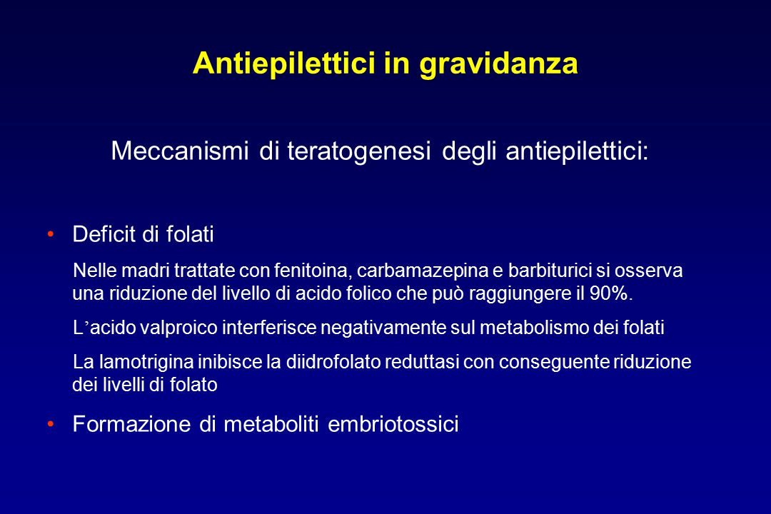 Antiepilettici in gravidanza