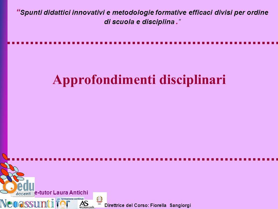 Approfondimenti disciplinari