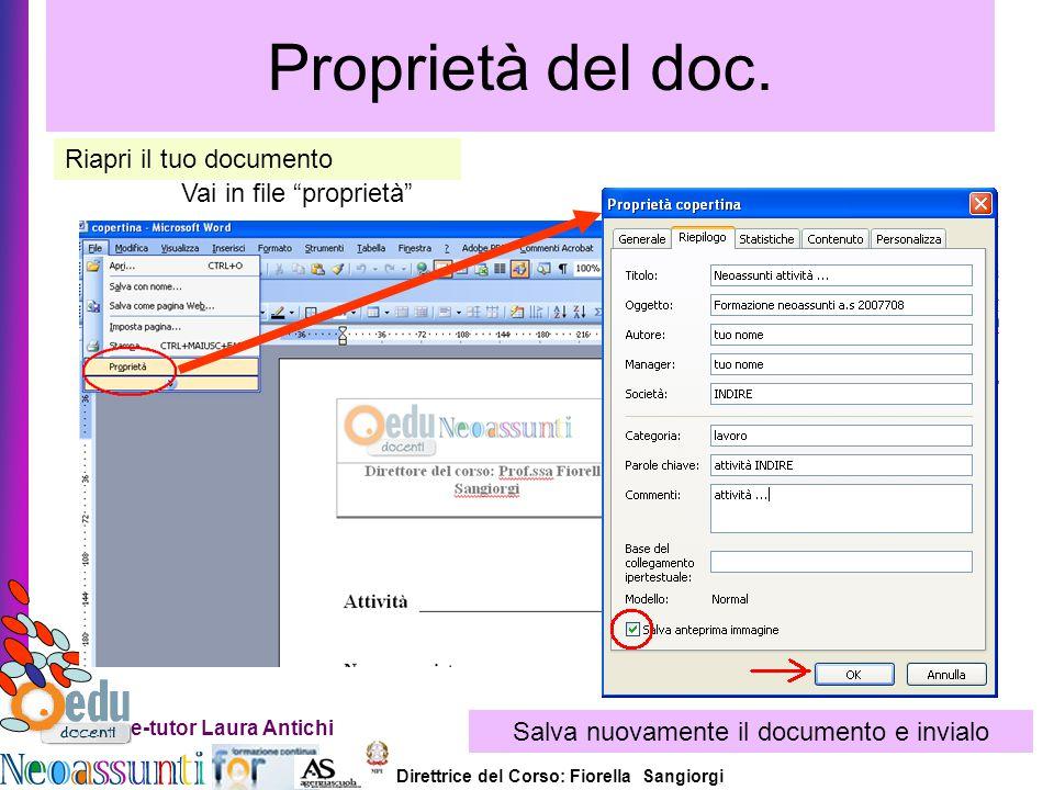 Salva nuovamente il documento e invialo