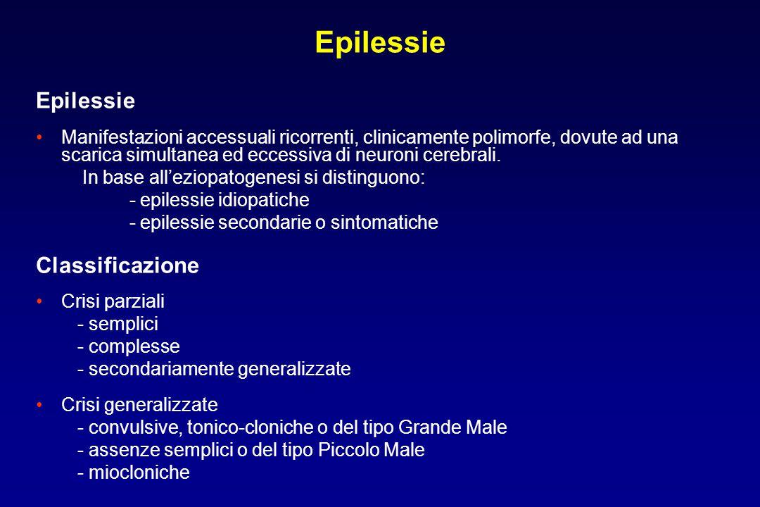 Epilessie Epilessie Classificazione