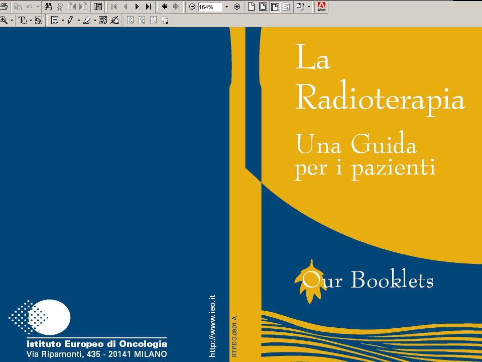 Cliccando su Radioterapia per esempio, viene aperto l'opuscolo in .pdf