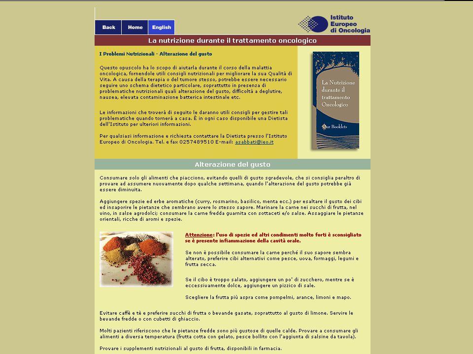 Cliccando su un titolo della pagina indice si arriva alla pagina desiderata.