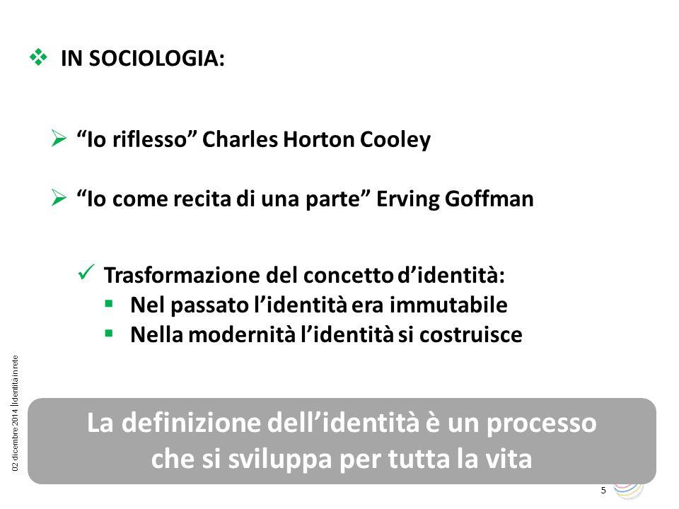 La definizione dell'identità è un processo