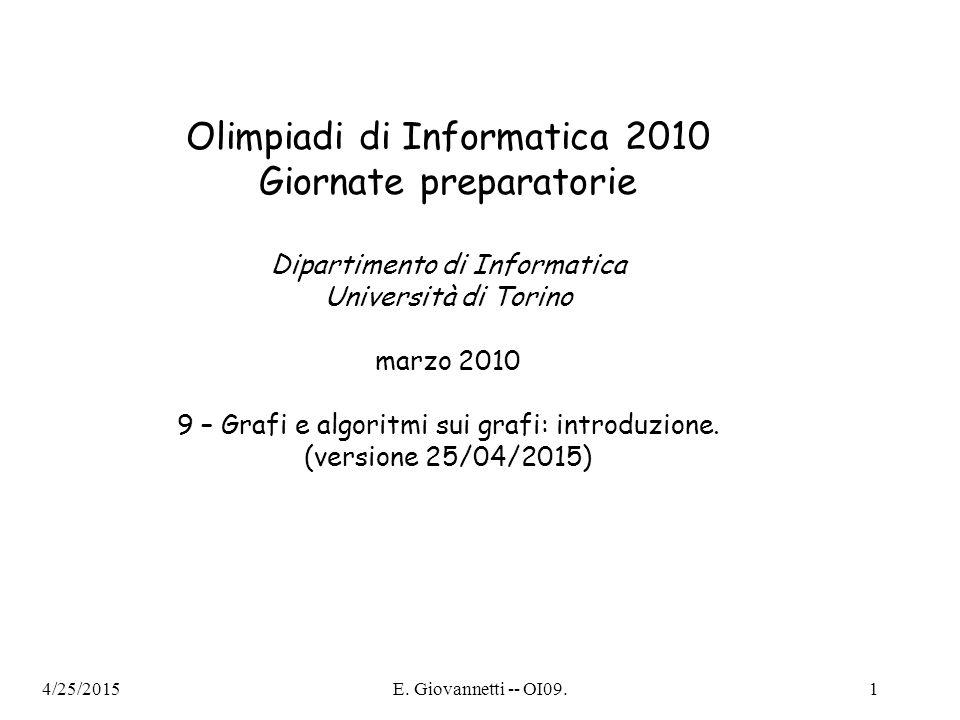 Olimpiadi di Informatica 2010 Giornate preparatorie