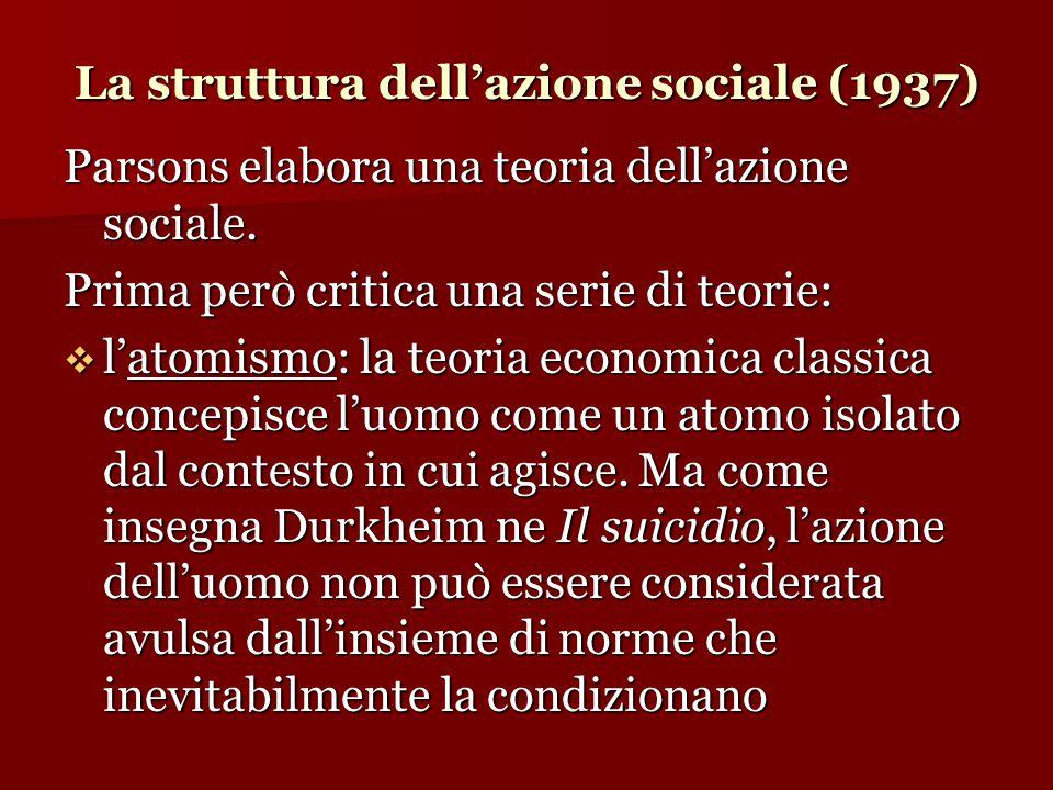 La struttura dell'azione sociale (1937)
