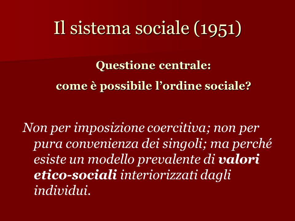 come è possibile l'ordine sociale