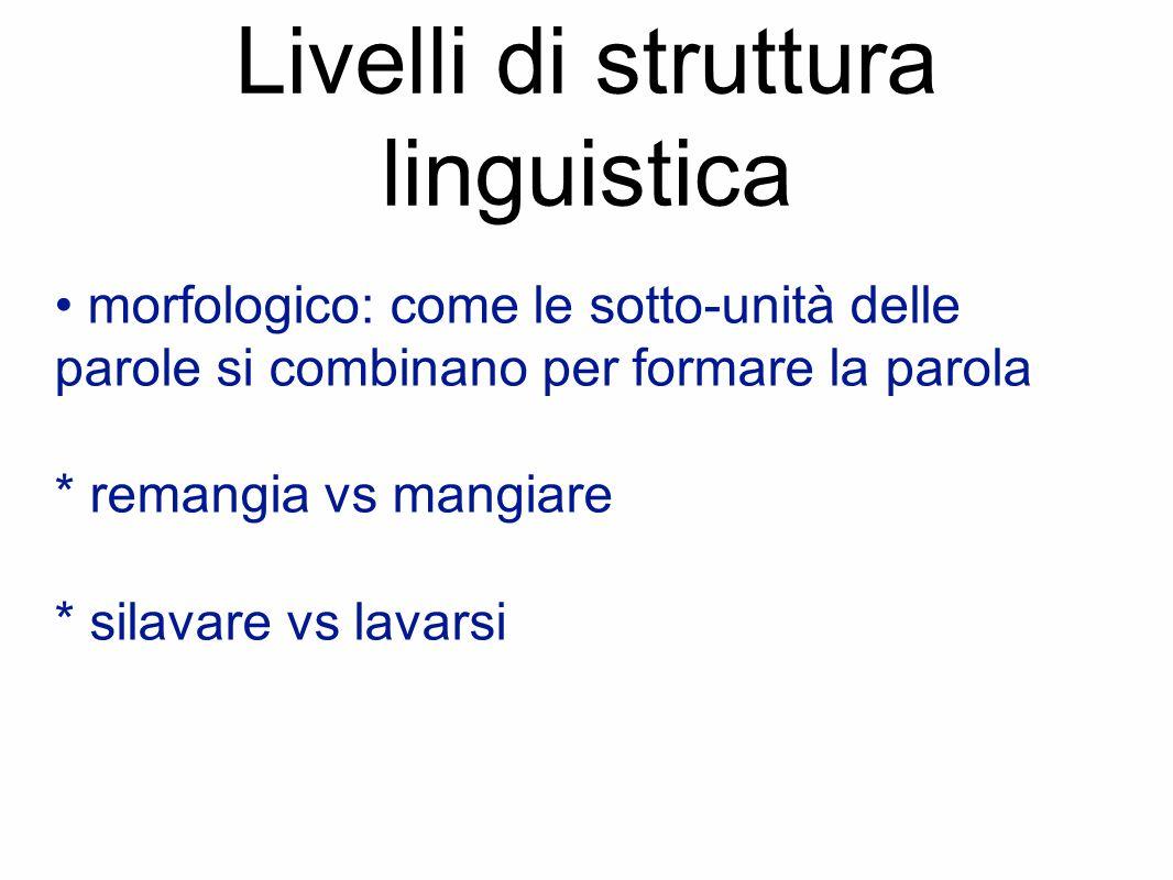 Livelli di struttura linguistica