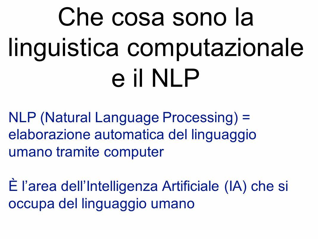 Che cosa sono la linguistica computazionale e il NLP