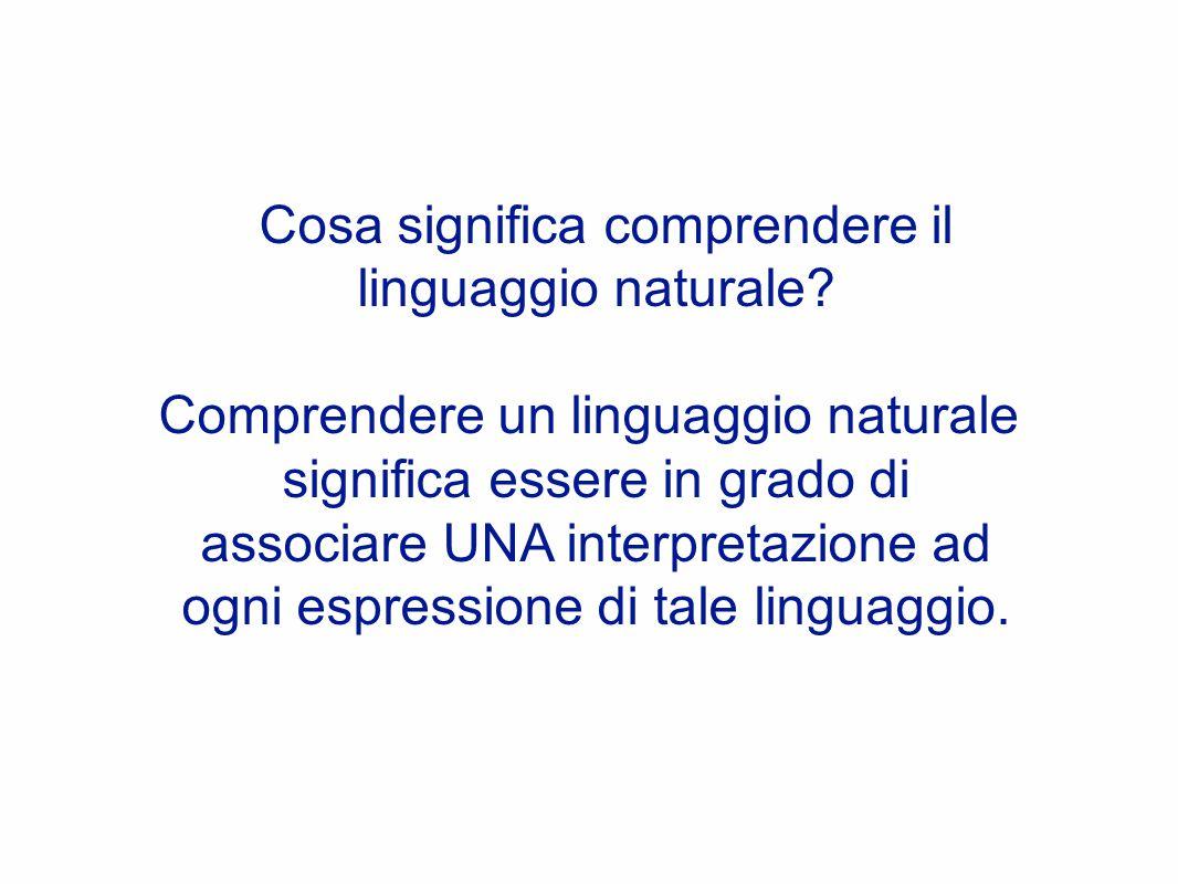 Cosa significa comprendere il linguaggio naturale