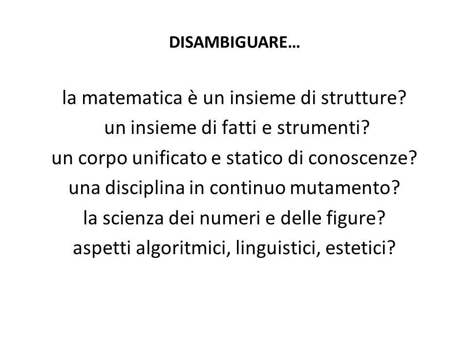 la matematica è un insieme di strutture