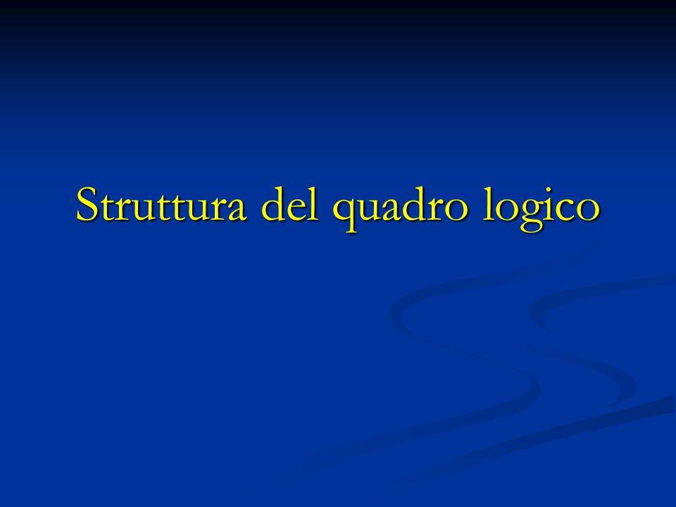 Struttura del quadro logico