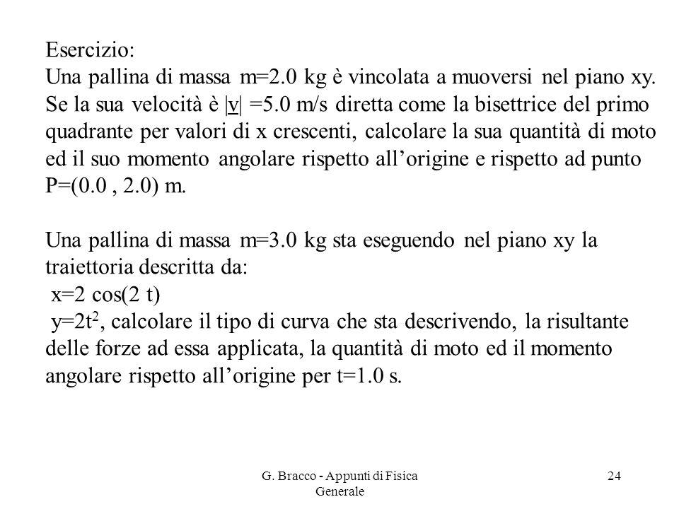 G. Bracco - Appunti di Fisica Generale