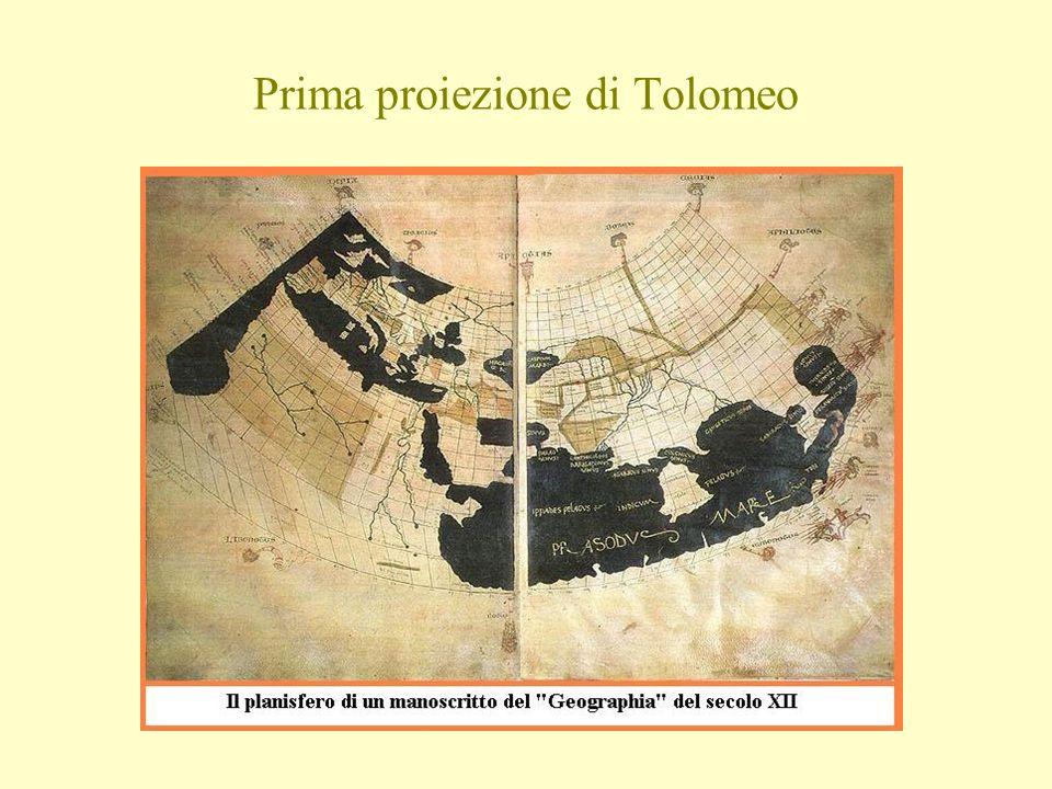 Prima proiezione di Tolomeo