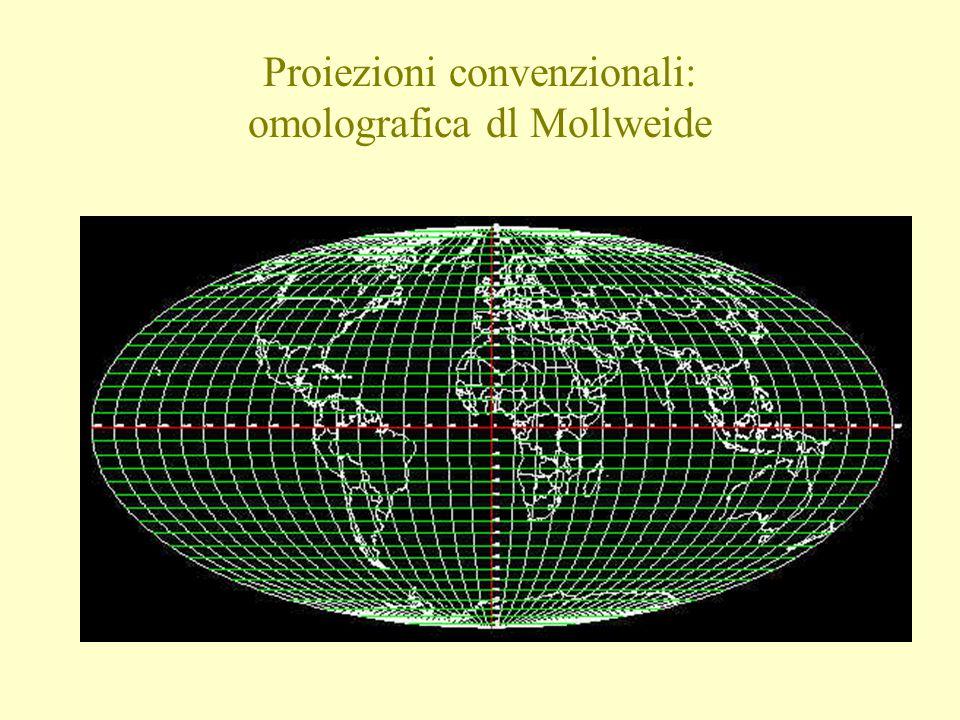 Proiezioni convenzionali: omolografica dl Mollweide