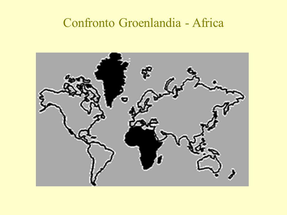 Confronto Groenlandia - Africa