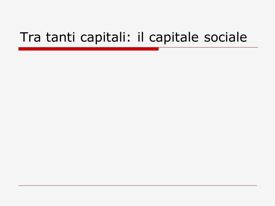 Tra tanti capitali: il capitale sociale