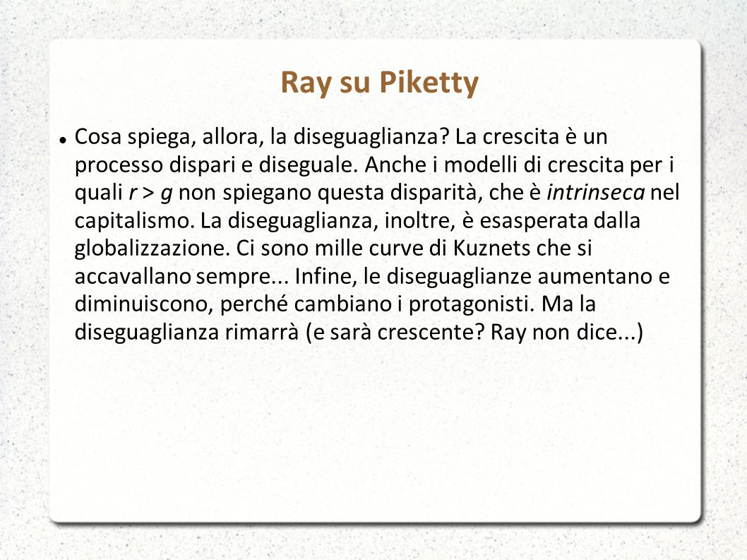 Ray su Piketty