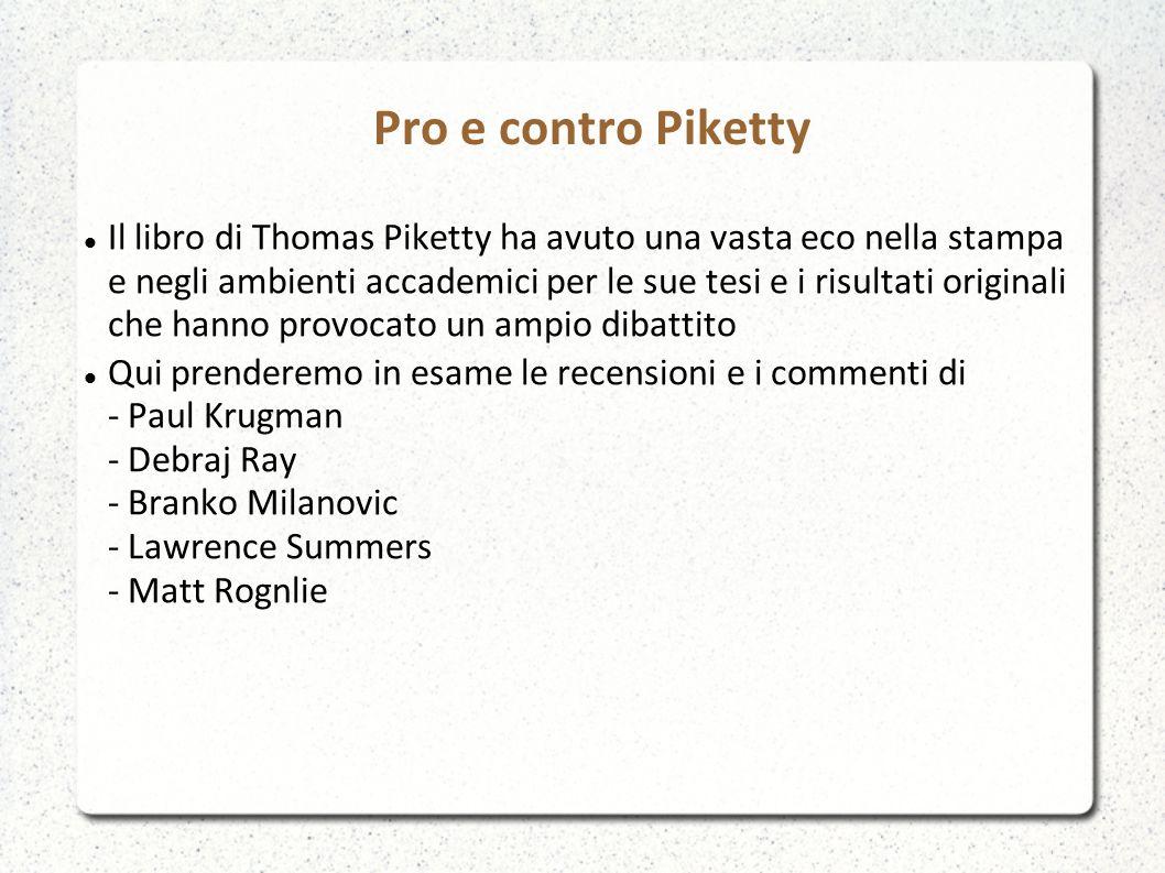 Pro e contro Piketty