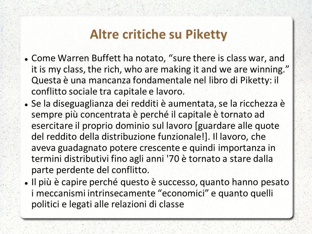 Altre critiche su Piketty