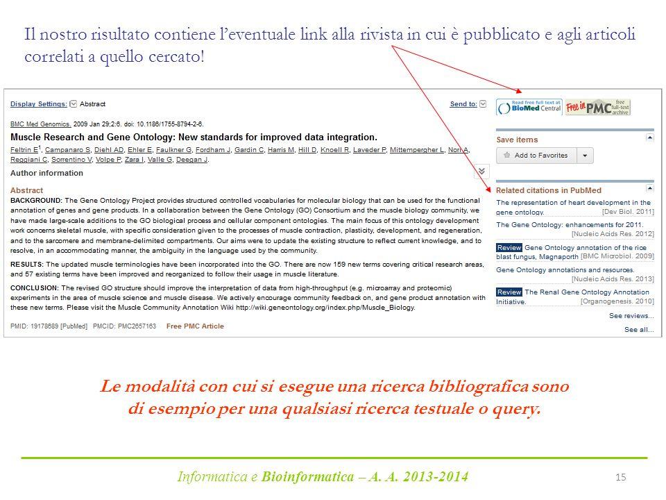 Il nostro risultato contiene l'eventuale link alla rivista in cui è pubblicato e agli articoli correlati a quello cercato!