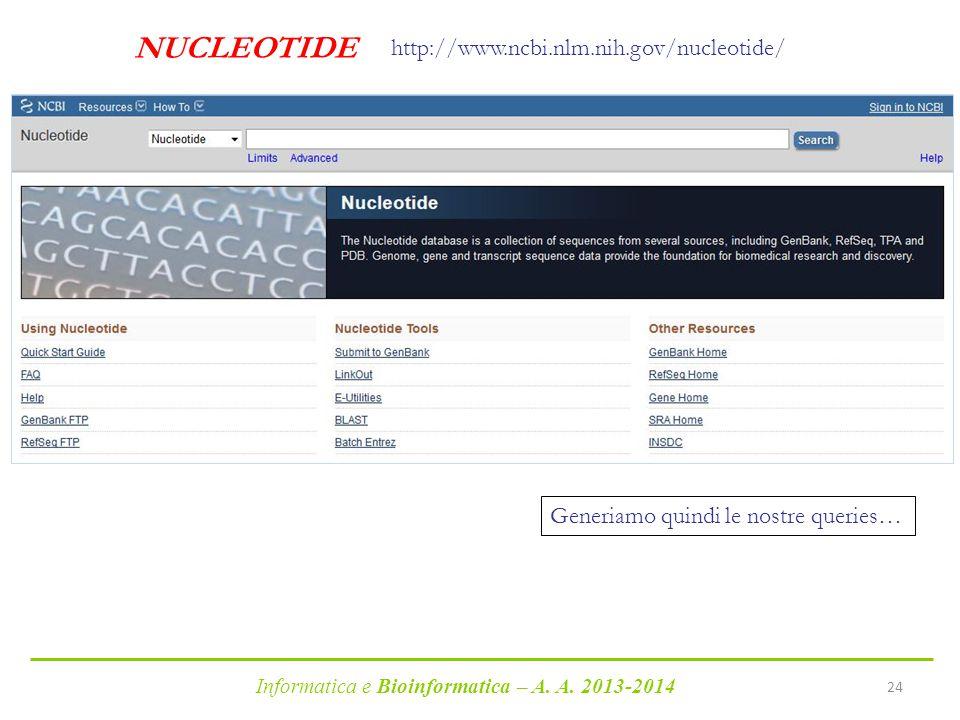 NUCLEOTIDE http://www.ncbi.nlm.nih.gov/nucleotide/