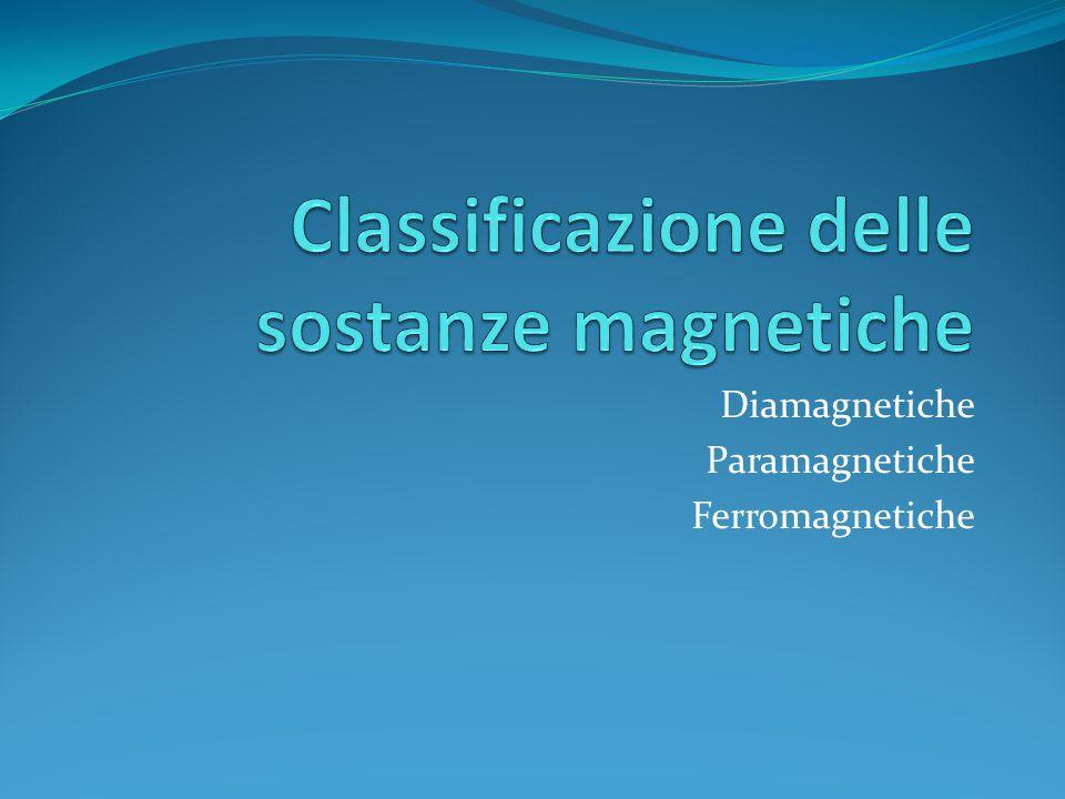 Classificazione delle sostanze magnetiche