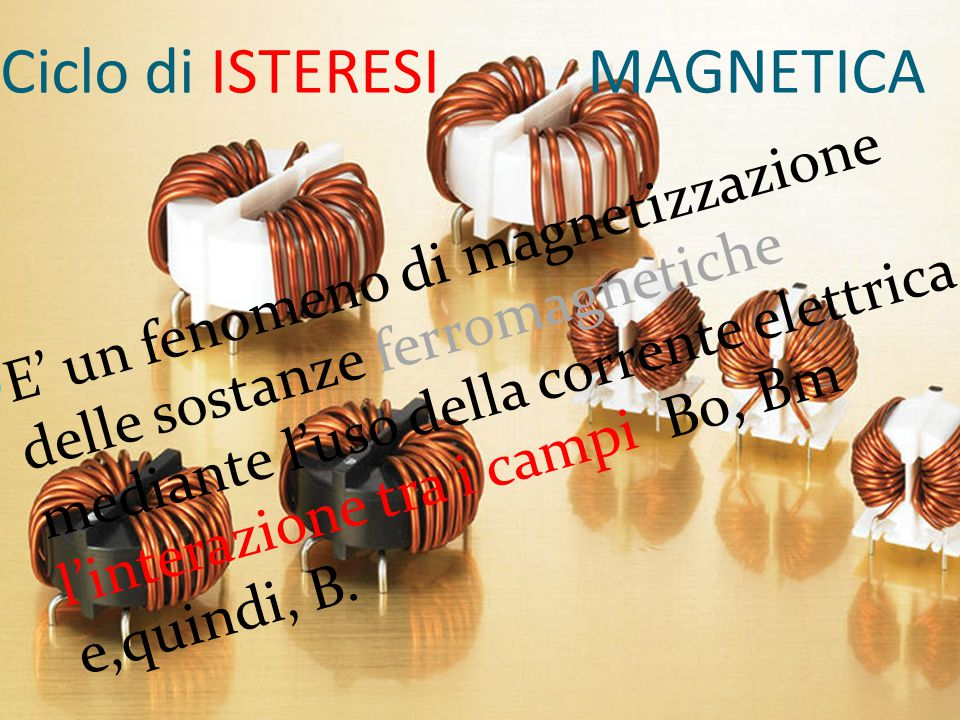 Ciclo di ISTERESI MAGNETICA