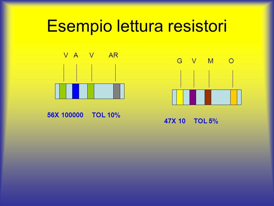 Esempio lettura resistori