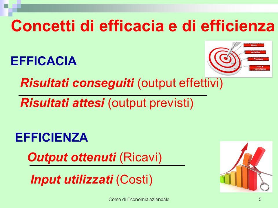 Concetti di efficacia e di efficienza