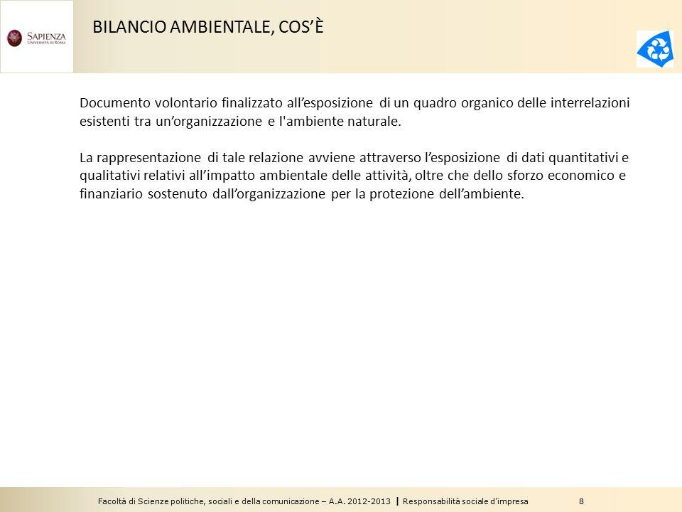 BILANCIO AMBIENTALE, COS'È