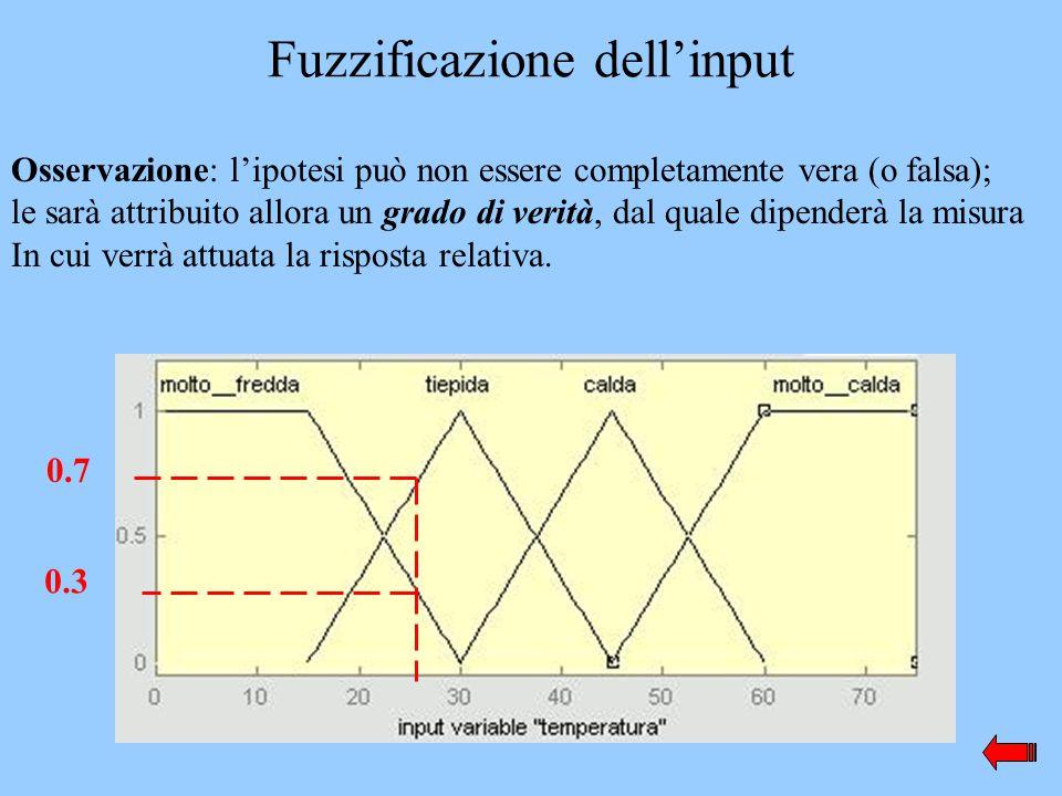 Fuzzificazione dell'input