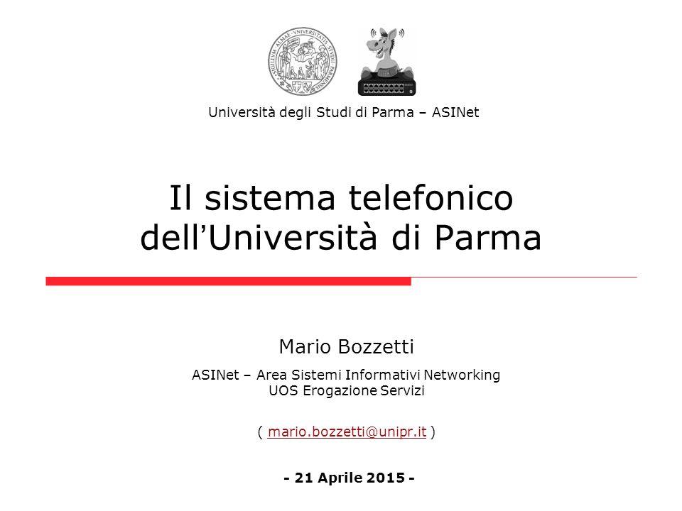Il sistema telefonico dell'Università di Parma