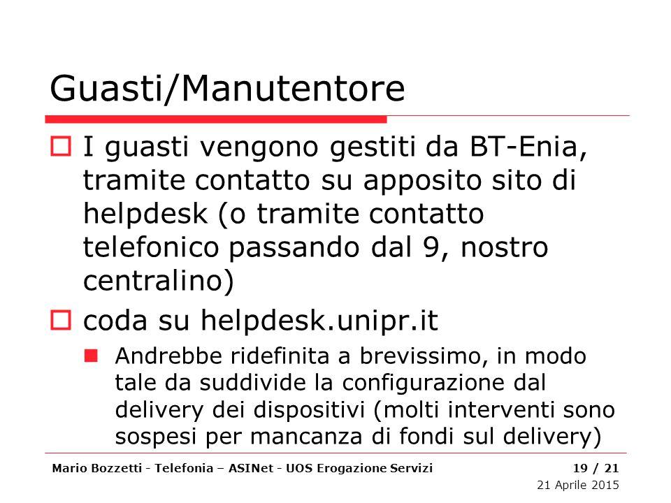 Guasti/Manutentore